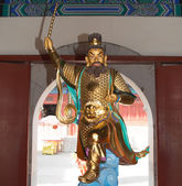 Dharmapala (protector of dharma), Buddhist temple in Beijing, China. — Stock Photo