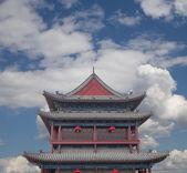 Fortificações de xian (sian, xian) uma antiga capital da china — Fotografia Stock