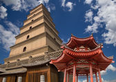Giant Wild Goose Pagoda (Big Wild Goose Pagoda), is a Buddhist pagoda located in southern Xian (Sian, Xi'an) — Stock Photo