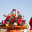 Stock Photo: Huge flower basket in Tiananmen square, Beijing, China