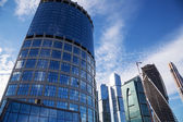 Skyscrapers of the International Business Center (City), Moscow, Russia — Fotografia Stock