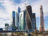 Wolkenkratzer des international business center (stadt), moskau, russland — Stockfoto