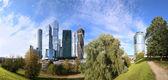 Wolkenkratzer des international business center (stadt), moskau, russland — Stockfoto