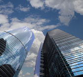 Skyscrapers of the International Business Center (City), Moscow, Russia — Foto Stock