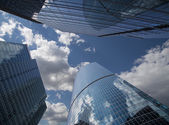 Skyscrapers of the International Business Center (City), Moscow, Russia — Foto de Stock