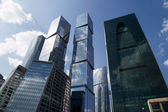 Skyscrapers of the International Business Center (City), Moscow, Russia — Stock Photo