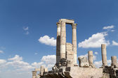 Temple of Hercules, Roman Corinthian columns at Citadel Hill, Amman, Jordan — Stockfoto
