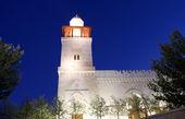 (gece), Kral Hüseyin bin talal Camii Amman'da Ürdün — Stok fotoğraf