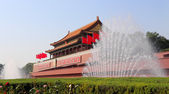 Tiananmen gate tower to the Forbidden City north of Tiananmen Square, Beijing, China — Stock Photo