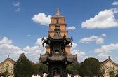 Giant Wild Goose Pagoda (Big Wild Goose Pagoda), is a Buddhist pagoda located in southern Xian (Sian, Xi'an), Shaanxi province, China — Stock Photo