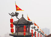 Fortifications of Xian (Sian, Xi'an) an ancient capital of China-- represent one of the oldest and best preserved Chinese city walls — Stock Photo