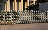 Fencing for security-- Tiananmen Square -- is a large city square in the center of Beijing, China — Stock Photo