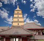 Giant Wild Goose Pagoda or Big Wild Goose Pagoda, is a Buddhist pagoda located in southern Xian (Sian, Xi'an),Shaanxi province, China — Foto de Stock