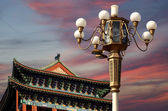 Zhengyangmen gate (qianmen). denna berömda Port ligger söder om Himmelska fridens torg i Peking, Kina — Stockfoto