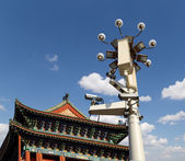 Zhengyangmen Gate (Qianmen). This famous gate is located at the south of Tiananmen Square in Beijing, China — Stock Photo