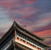Zhengyangmen Gatter (Qianmen). Das berühmte Tor befindet sich im Süden des Platz des Himmlischen Friedens in Peking, china — Stockfoto