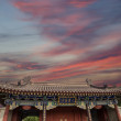 Roof decorations on the territory Giant Wild Goose Pagoda, is a Buddhist pagoda located in southern Xian (Sian, Xi'an), Shaanxi province, China — Stock Photo #49373535