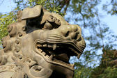 Bronze Guardian Lion Statue in Yonghe Temple (Lama Temple) in Beijing, China — Photo