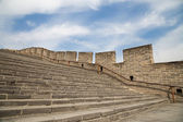 View of one of the most scenic sections of the Great Wall of China, north of Beijing — Foto de Stock