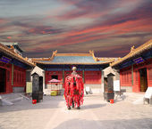 Traditional Buddhist temple, Beijing, China — Stockfoto