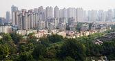 西安 (西安、sian)、陝西省、中国の都市の眺め — ストック写真