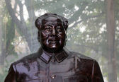 Sculpture Mao Zedong, also transliterated as Mao Tse-tung  and commonly referred to as Chairman Mao(December 26, 1893 -September 9, 1976) — Stock Photo
