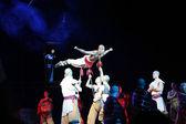 """Akcja dramatu """"Legenda kungfu"""", najbardziej ekscytujące kungfu Pokaż na świecie, """"czerwony teatr"""", beijing, Chiny — Zdjęcie stockowe"""