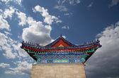традиционное украшение крыши буддийский храм, сиань (sian), китай — Стоковое фото