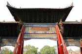 Entrance to a Buddhist temple  -- Xian (Sian, Xi'an), Shaanxi province, China — Foto de Stock