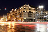 Historic building in the center of Moscow (Metropol Hotel) at night, Russia — Stock Photo