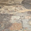 Ancient byzantine map of Holy Land on floor of Madaba St George Basilica, Jordan, Middle East — Stock Photo #51607971