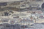 Kutsal topraklar madaba st katta antik Bizans Haritası george Bazilikası, jordan, Orta Doğu — Stok fotoğraf