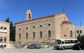 Greek Orthodox Basilica of Saint George in town Madaba, Jordan,  Middle East — Stock Photo