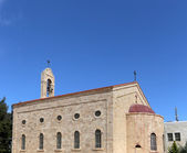 Greek Orthodox Basilica of Saint George in town Madaba, Jordan,  Middle East — Photo