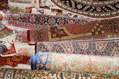 Ehtnic carpets texture, Amman, Jordan — Stock Photo
