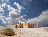 Quseir (Qasr) Amra desert castle near Amman, Jordan. World heritage with famous fresco's. — Stok fotoğraf