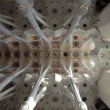 The ceiling of the Sagrada Familia in Barcelona, Spain — Stock Photo #9896032