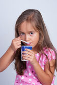 Little Girl Eating — Stockfoto