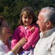 Happy Grandfather, Grandmother and grandchild — Stock Photo #19592175