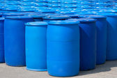 Blue Barrels — Stockfoto