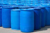 Blue Barrels — Stock Photo