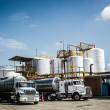 Chemical Storage Tank And Tanker Truck — Stock Photo #20310041