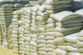 Pilas de sacos de químicas — Foto de Stock