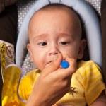 Mother Feeding Her Baby — Stock Photo #21135757