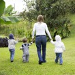 Lovely Mother With Her Children Outdoors — Stock Photo #36670507