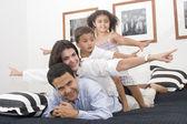 прекрасная семья — Стоковое фото