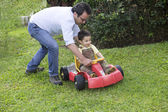 Dad And Son Playing — Stock Photo