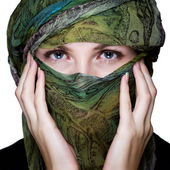 Woman with veil — Stock Photo