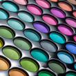 Eye shadows palette background — Stock Photo #19106385