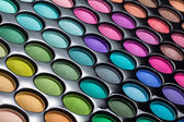 Eye shadows palette background — Stock Photo